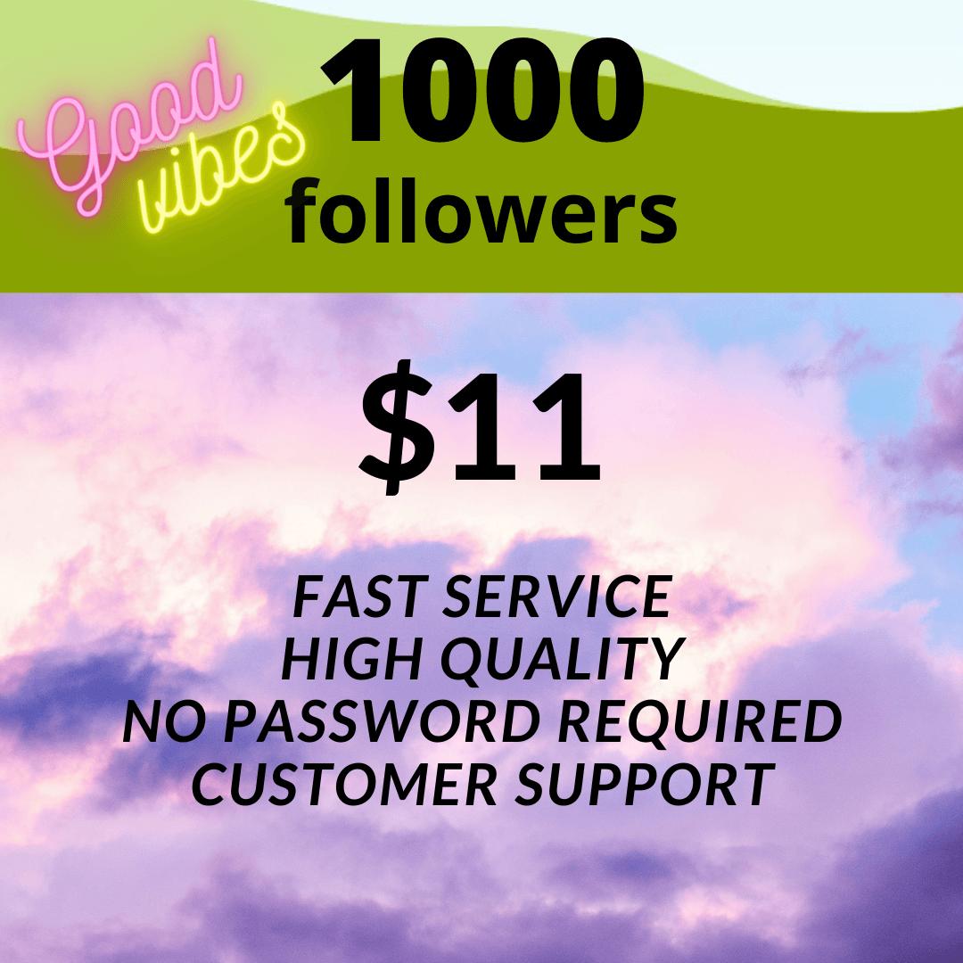 11 dollars for 1000 IG followers